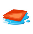 wet cleaning rag vector image
