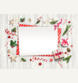 white wood template vector image vector image