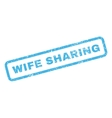 Wife Sharing Rubber Stamp vector image vector image