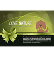 with nature and dog vector image vector image