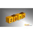2015 cube orange vector image