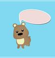 cute bear toy or animal vector image