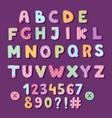 patchwork alphabet typography letters cute vintage vector image