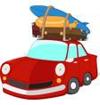 cartoon travelling car vector image