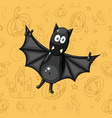 226 black cartoon bat vector image vector image
