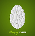 Abstract Easter eggs folded greeting cards vector image