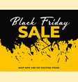abstract ink splash black friday background vector image vector image