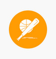 baseball basket ball game fun white glyph icon in vector image vector image