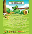 bee finding honeycomb game vector image vector image