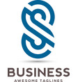 best letter s logo design vector image