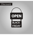 black and white style icon signboard black friday vector image vector image