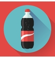 Bottle of cola soda Flat vector image vector image