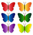 butterflies stickers set vector image vector image