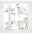 Card with hand drawn chamomiles Invitation for vector image