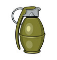 cartoon of a hand grenade vector image
