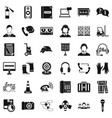 cassette icons set simple style vector image vector image
