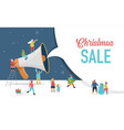 christmas announcement merry happy new vector image vector image