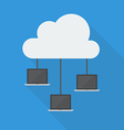 Cloud Computing Laptop Network vector image vector image