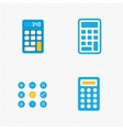 colorful calculator icons set vector image vector image