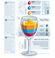 creative infographics composition 3d wineglass vector image vector image