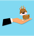 deer toy or character vector image vector image