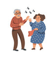 elderly dancing couple old man and woman have fun vector image