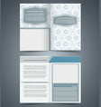 empty bifold brochure template vector image