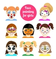 Face painting 9 vector image