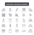 fashion design school line icons signs vector image vector image