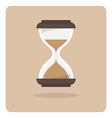 Flat icon hourglass vector image