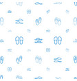 flops icons pattern seamless white background vector image vector image