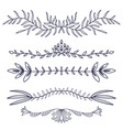 Floral ornament dividers hand drawn decoration