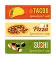 Food Banners Set vector image vector image