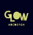 glow halftone font alphabet a b c d e f g h vector image vector image