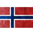 Grunge flag Norway vector image vector image