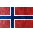 Grunge flag Norway vector image