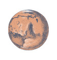 hand drawn planet mars vector image vector image