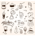 Hand drawn sketch doodle vintage simple coffee vector image vector image
