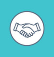 handshake icon symbol of collaboration partnership vector image