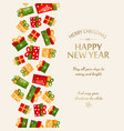 happy new year greeting template vector image vector image