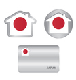 Home icon on the Japan flag vector image