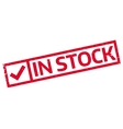 In Stock rubber stamp vector image vector image