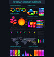 infographic design elements and charts vector image