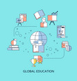 international educational projects vector image