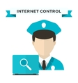 Internet security data privacy vector image vector image