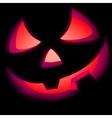 jack o lantern pumpkin illuminated green eps 8 vector image