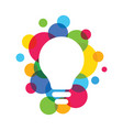 light bulb ideas concept eps 10 vector image vector image