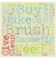 Makeup Brushes text background wordcloud concept vector image vector image