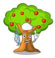 nurse apple tree full of isolated mascot vector image