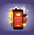 online betting poster banner design vector image vector image